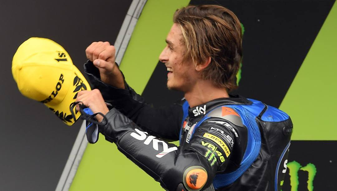 uca Marini, 25 anni, quest'anno ha vinto 3 GP di Moto2: terzo nella generale a 5 punti da Enea Bastianini. Afp