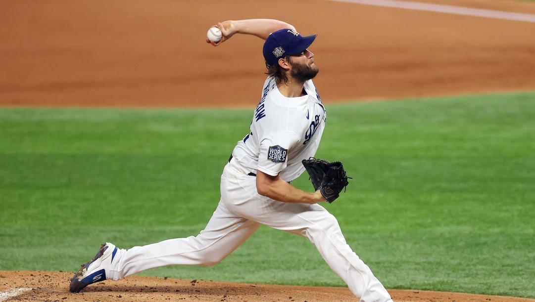 Il lanciatore dei Dodgers, Clayton Kershaw. Afp
