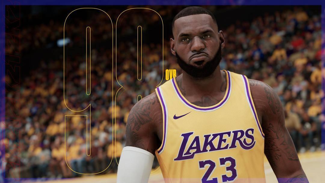 La versione virtuale di LeBron James, il miglior giocatore in Nba2k21