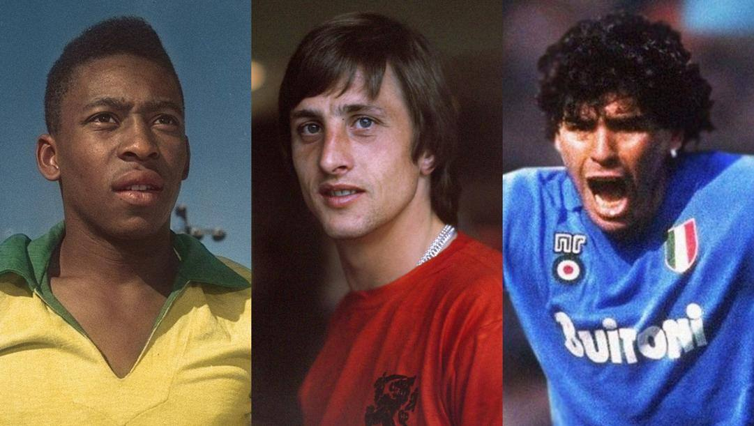 Pelé, Cruijff e Maradona