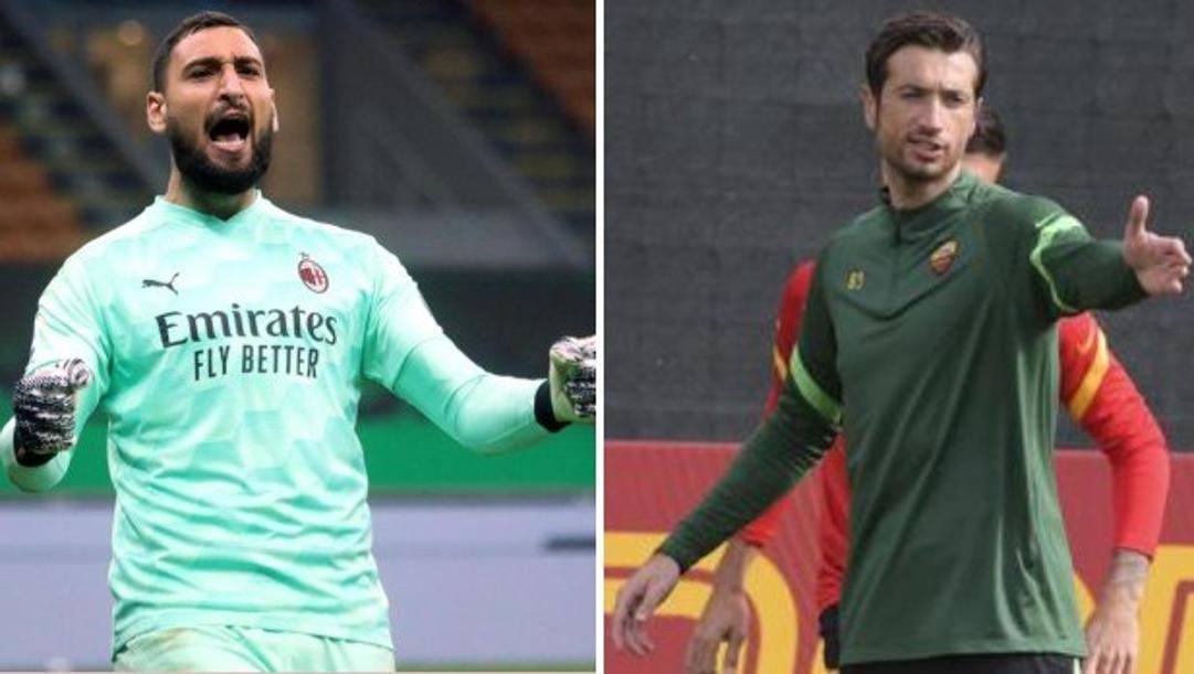 Gigio Donnarumma, 21 anni, e Antonio Mirante, 37. Ansa-LaPresse