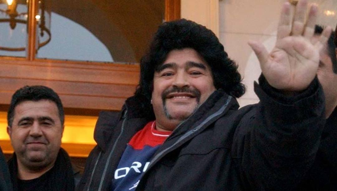 Maradona in uno dei suoi periodi più bui