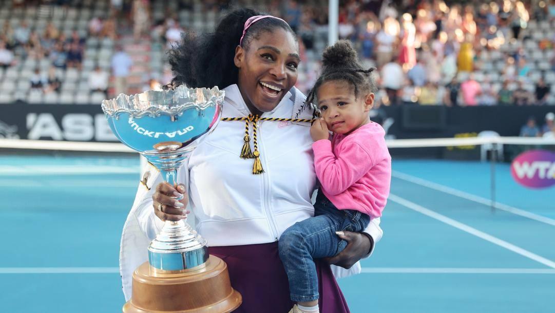 Serena Williams e la figlia Alexis Olympia AP