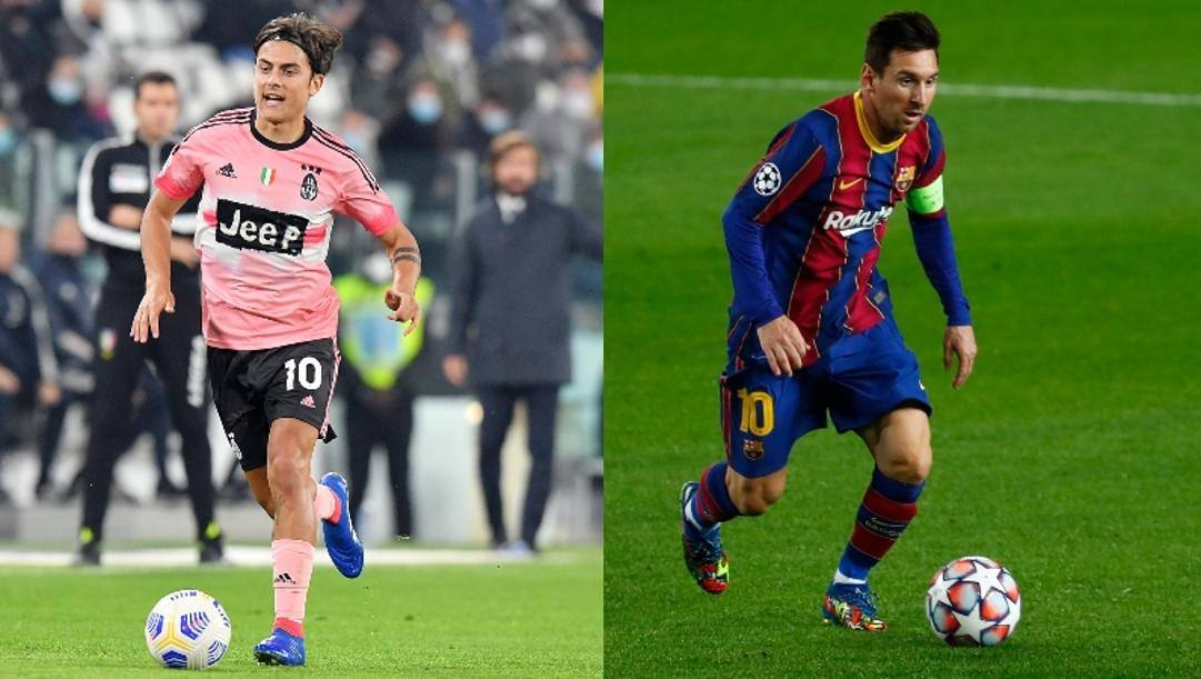 La sfida tra i numeri 10 Dybala e Messi
