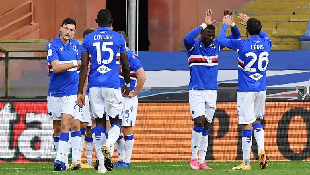 Esultanza Sampdoria. LaPresse