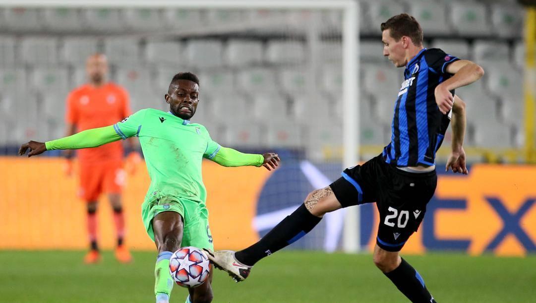 Jean Daniel Akpa Akpro, 28 anni, in azione contro i Bruges. Afp