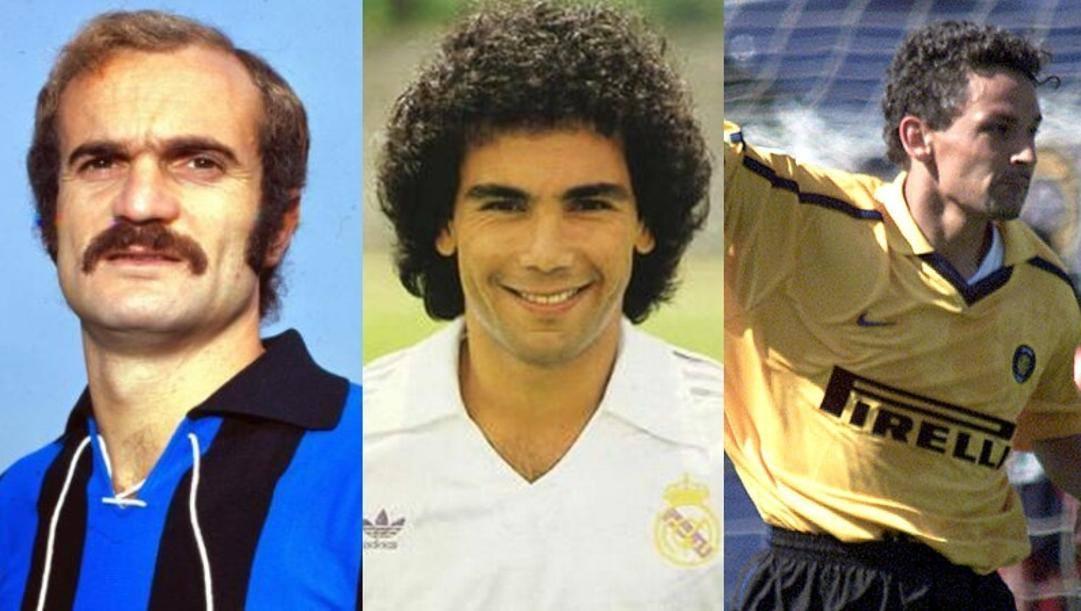 Sandro Mazzola, Hugo Sanchez e Roberto Baggio