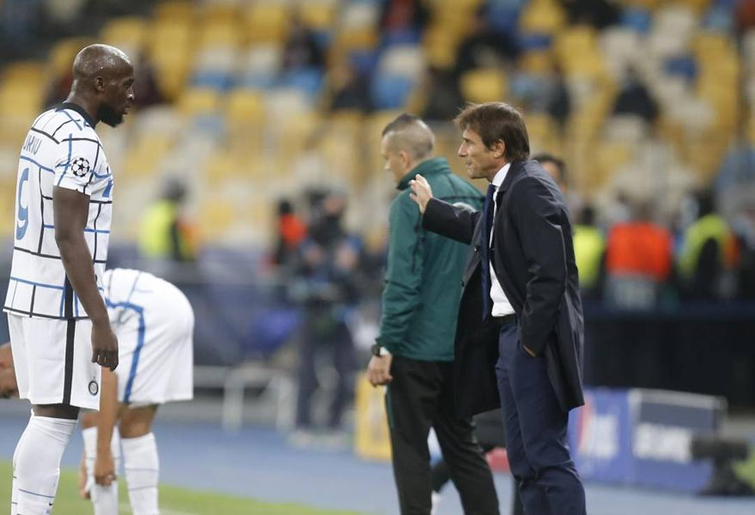 Da sinistra, Romelu Lukaku e Antonio Conte, LaPresse