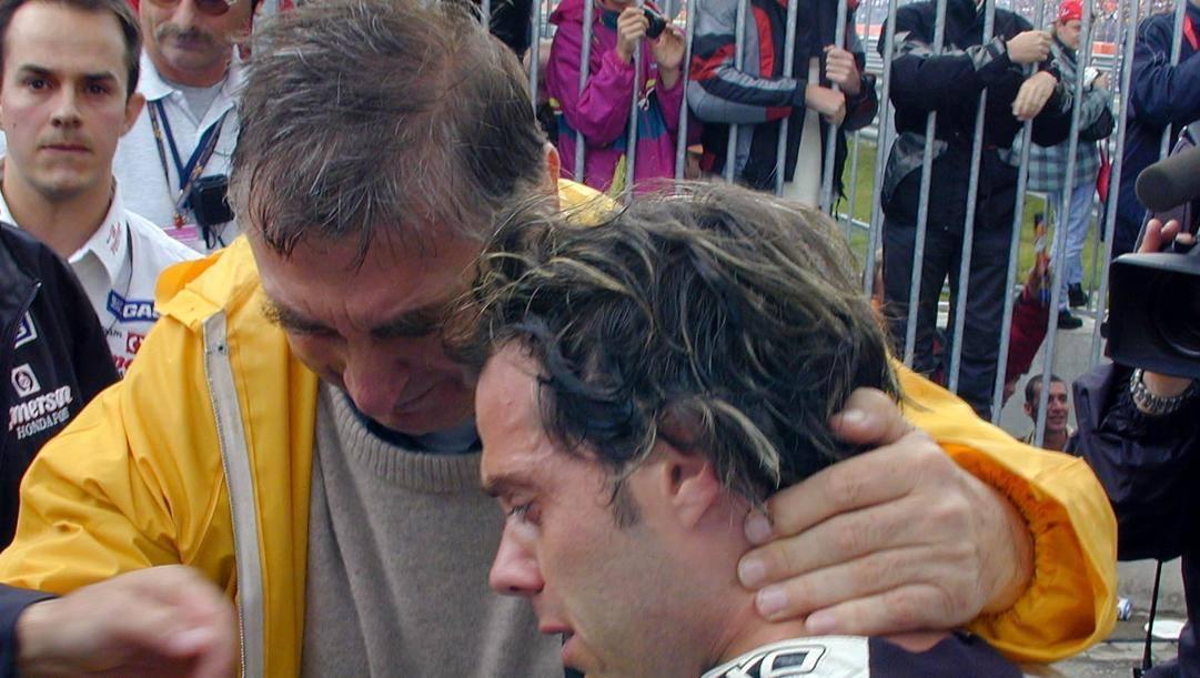 Claudio Costa con Loris Capirossi