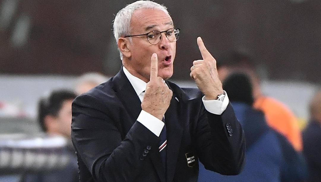 Claudio Ranieri, tecnico della Samp. Ansa