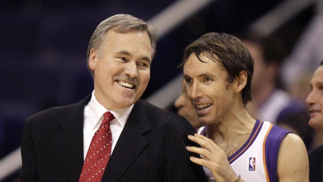 Mike D'Antoni e Steve Nash ai Suns AP