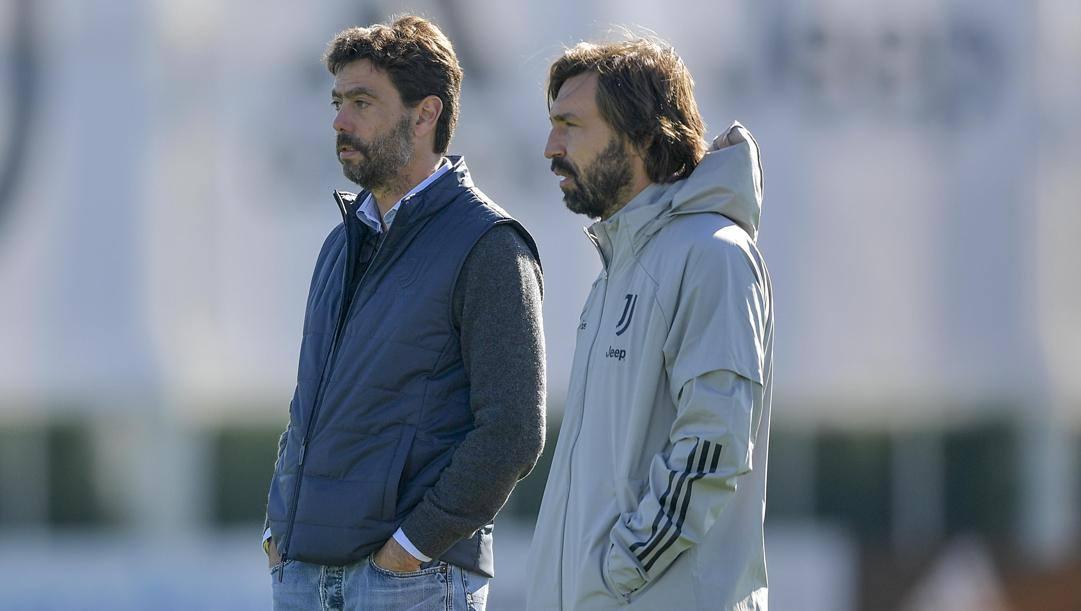 Andrea Agnelli e Andrea Pirlo. Getty