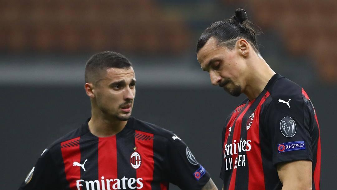La delusione di Krunic e Ibrahimovic. Getty Images