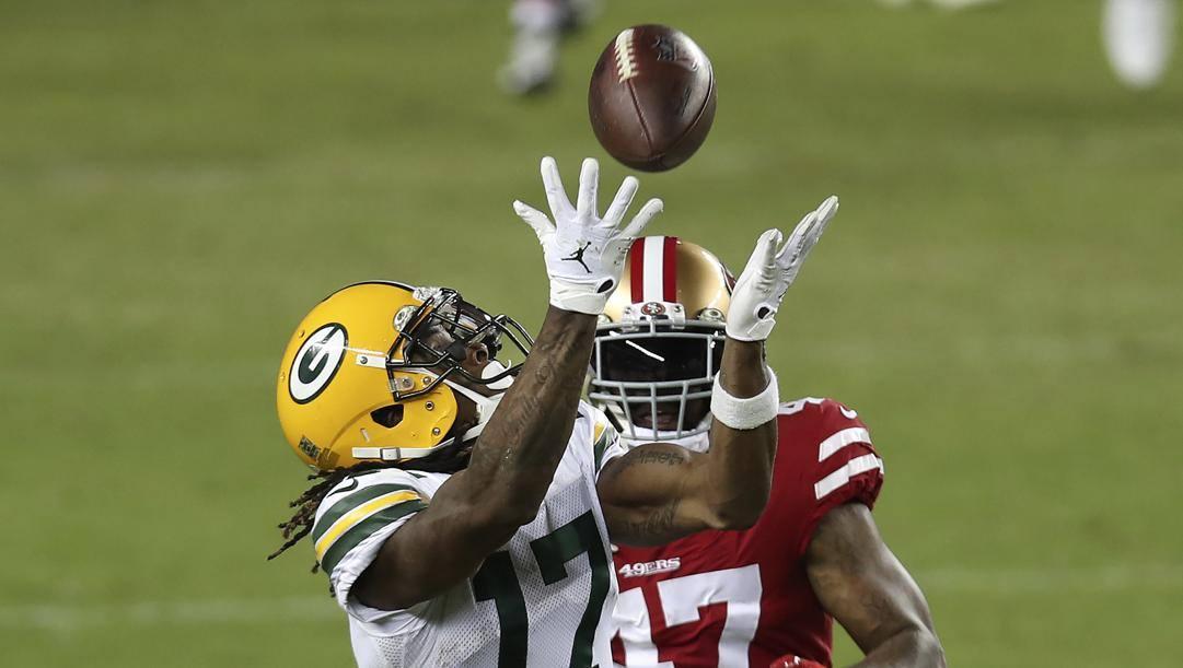 Davante Adams, ricevitore dei Green Bay Packers. Afp