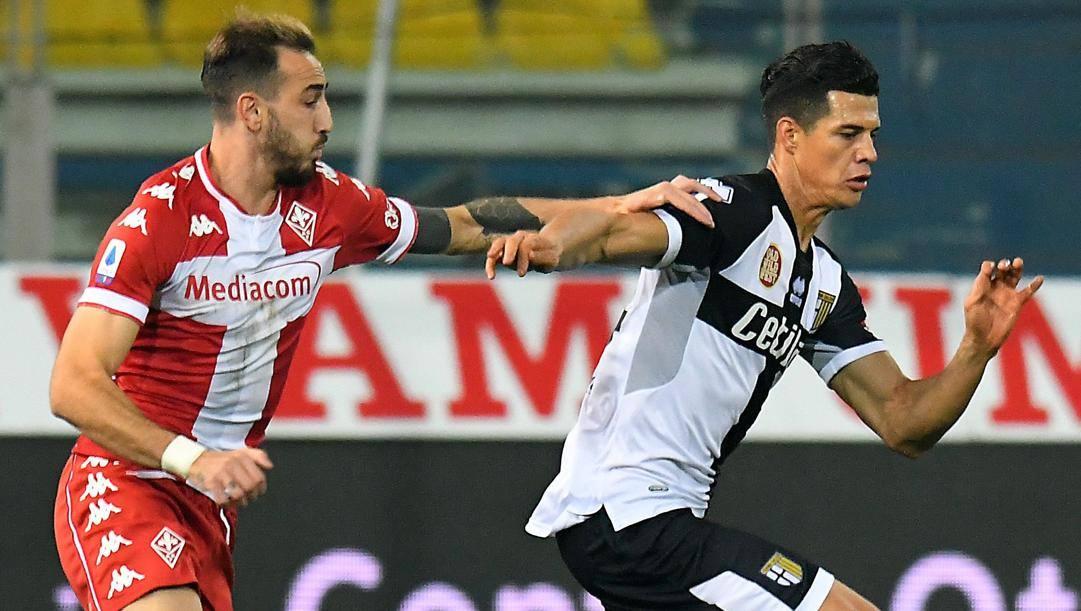 Osorio duella con Castrovilli. Getty