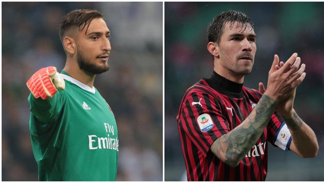 Donnarumma e Romagnoli. Getty