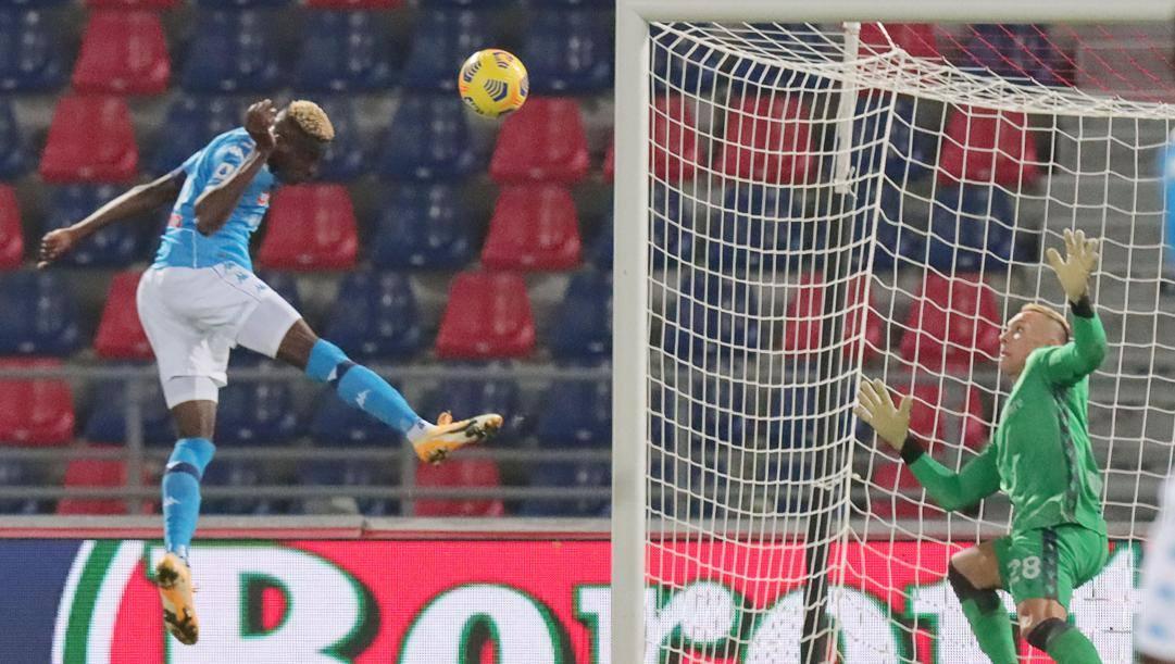 Il gol decisivo di Osimhen. Ansa