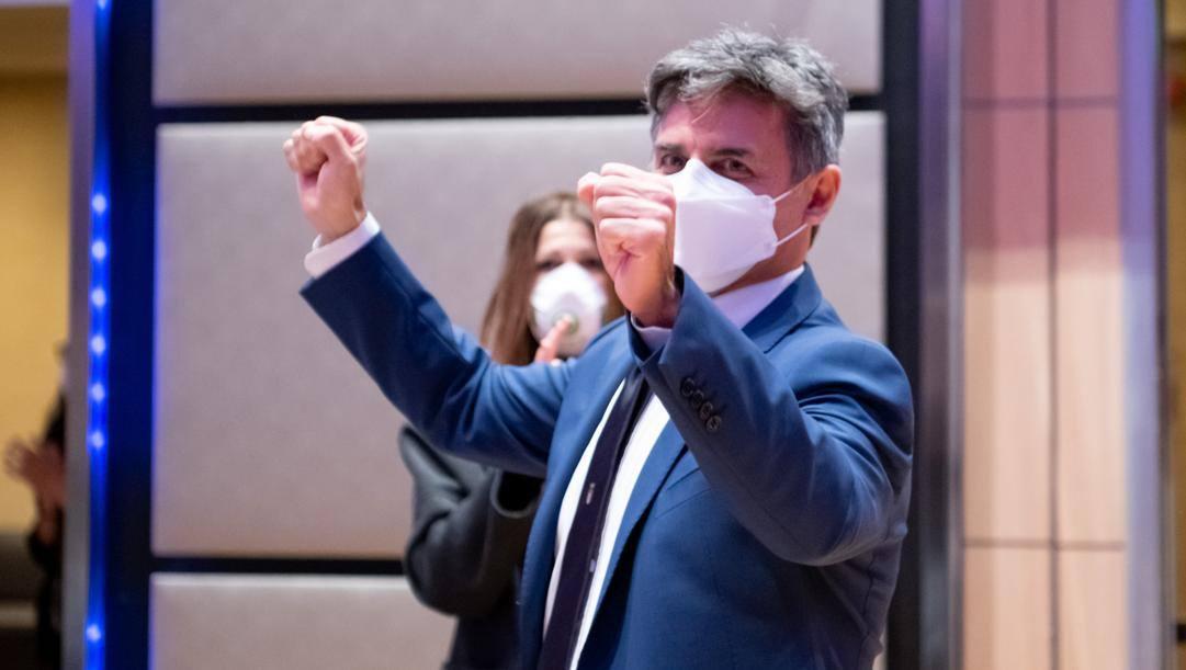 Angelo Cito dopo la conferma a presidente della Fita DI TONDO