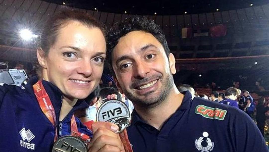 Serena Ortolani e Davide Mazzanti al Mondiale