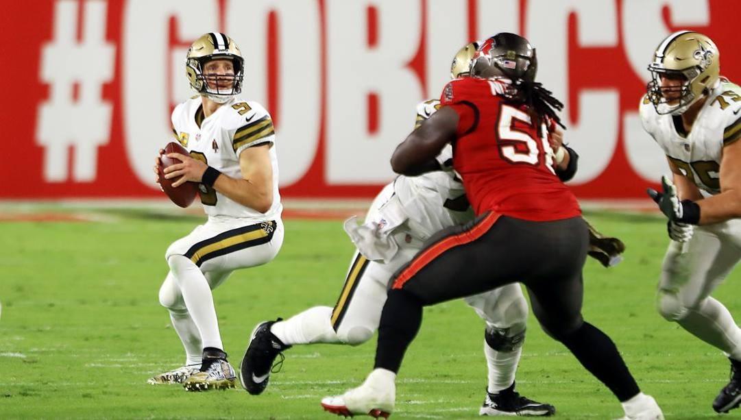 Drew Brees, 41, quarterback dei Saints. Afp