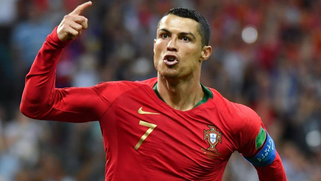 Cristiano Ronaldo con la maglia del Portogallo. Afp