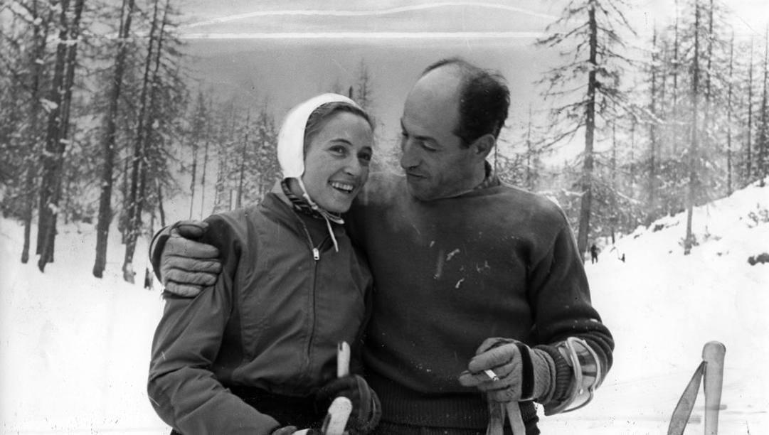 Giuliana Chenal Minuzzo con Zeno Colò