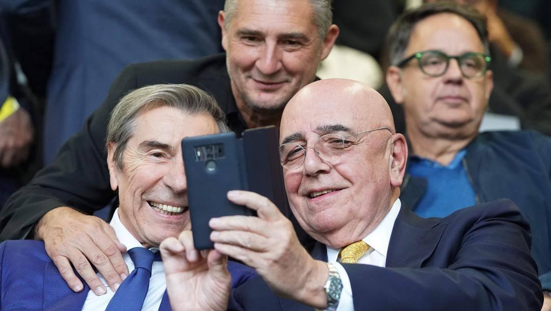 Selfie per Ariedo Braida e Adriano Galliani. Lapresse