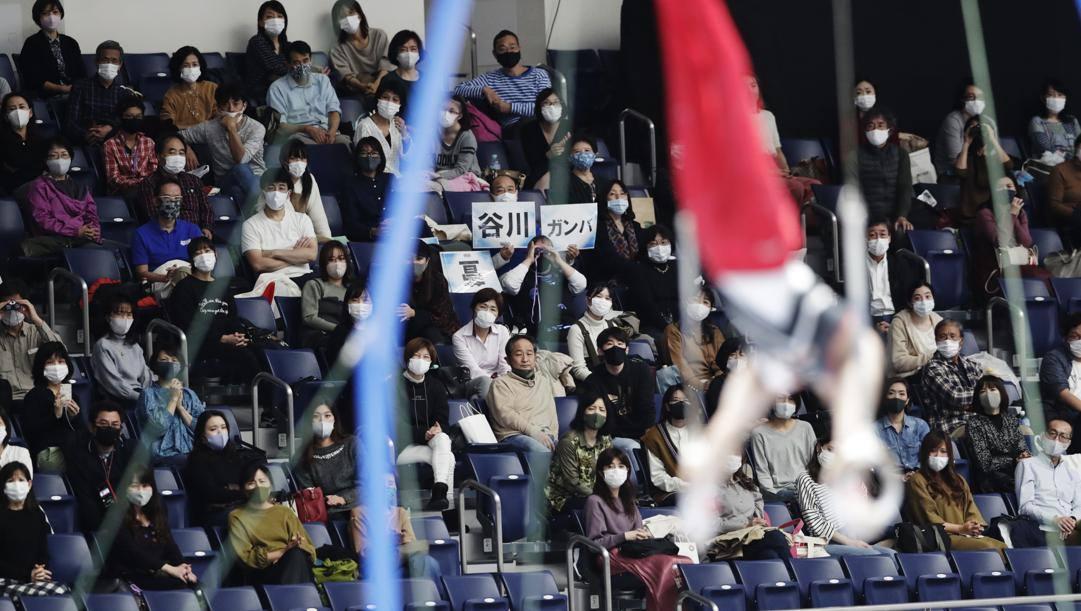 Il pubblico nella gara di ginnastica di domenica. Ap