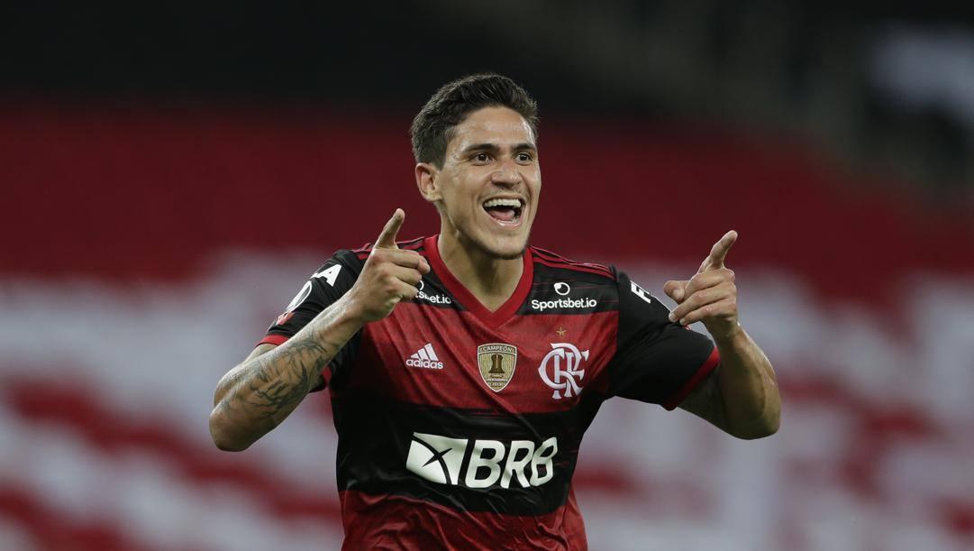 Pedro, attaccante del Flamengo in prestito dalla Fiorentina. Ap