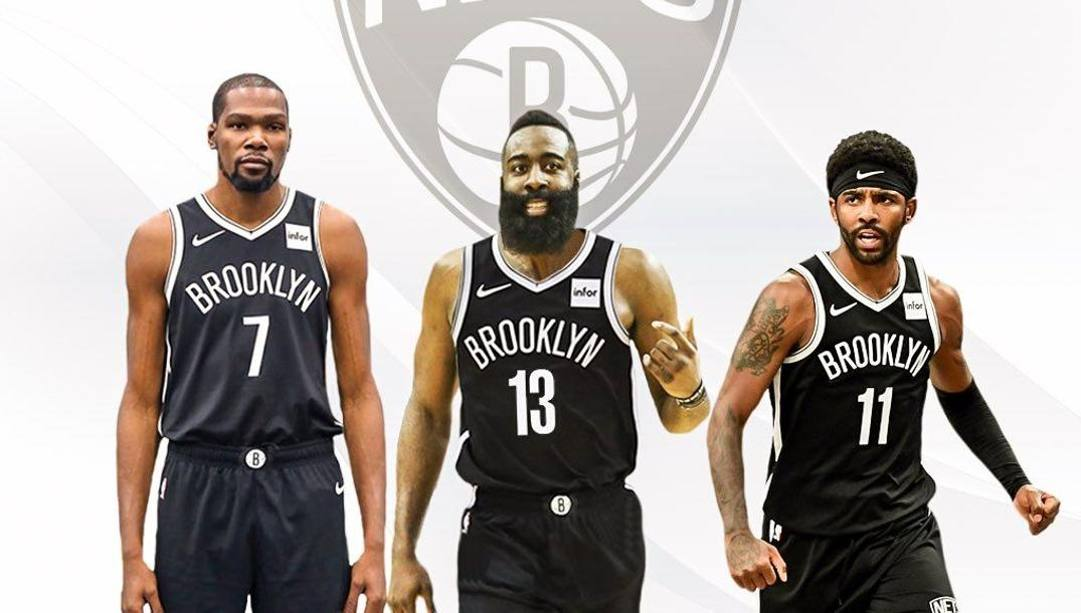 Kevin Durant, James Harden e Kyrie Irving: potrebbero essere i nuovi Big Three di Brooklyn