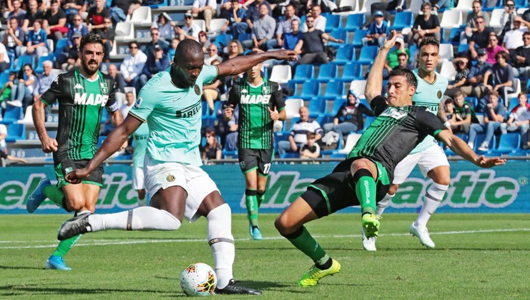 Romelu Lukaku, centravanti dell'Inter. Ansa