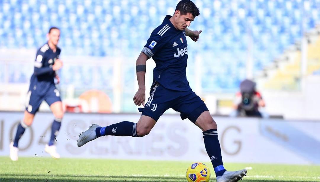 Alvaro Morata, attaccante spagnolo della Juve. Lapresse