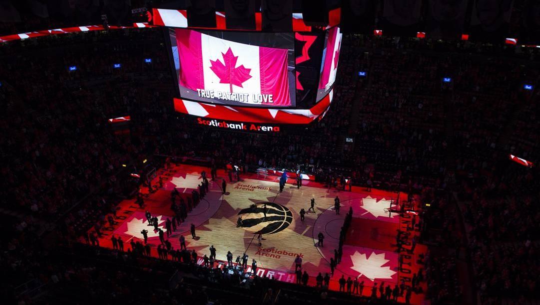 La Scotiabank Arena di Toronto, la casa dei Raptors. Ap
