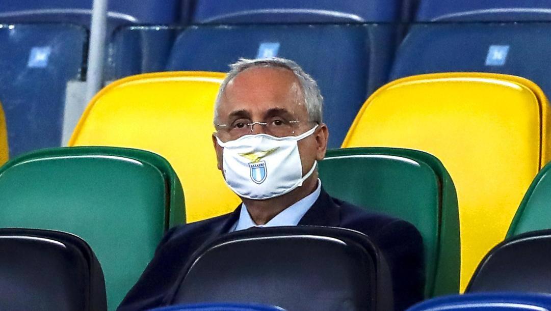 Il presidente della Lazio Claudio Lotito, 63 anni. Ansa