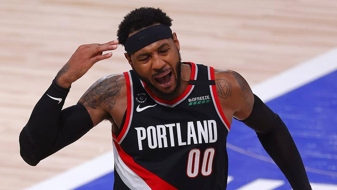 Carmelo Anthony, 36 anni, in Nba dal 2003. Afp