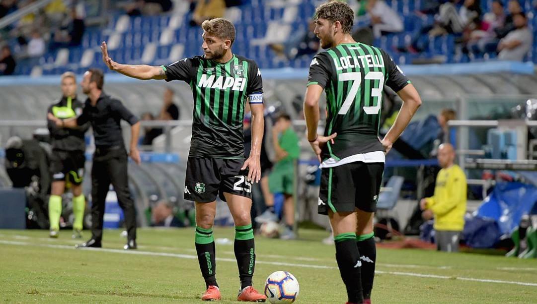 Domenico Berardi e Manuel Locatelli, due azzurri del Sassuolo. Getty