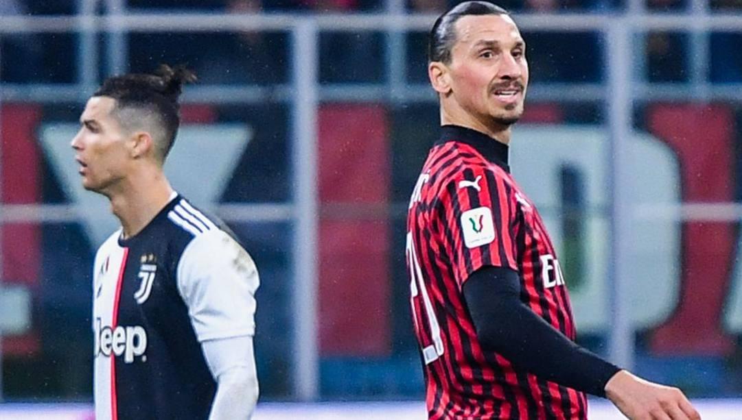 Cristiano Ronaldo, 35 anni, e Zlatan Ibrahimovic, 39. Afp