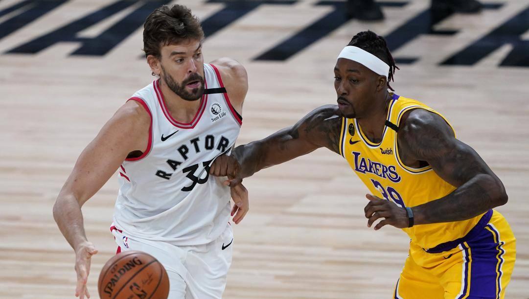 Marc Gasol, 35 anni, nuovo centro dei Lakers. Ap