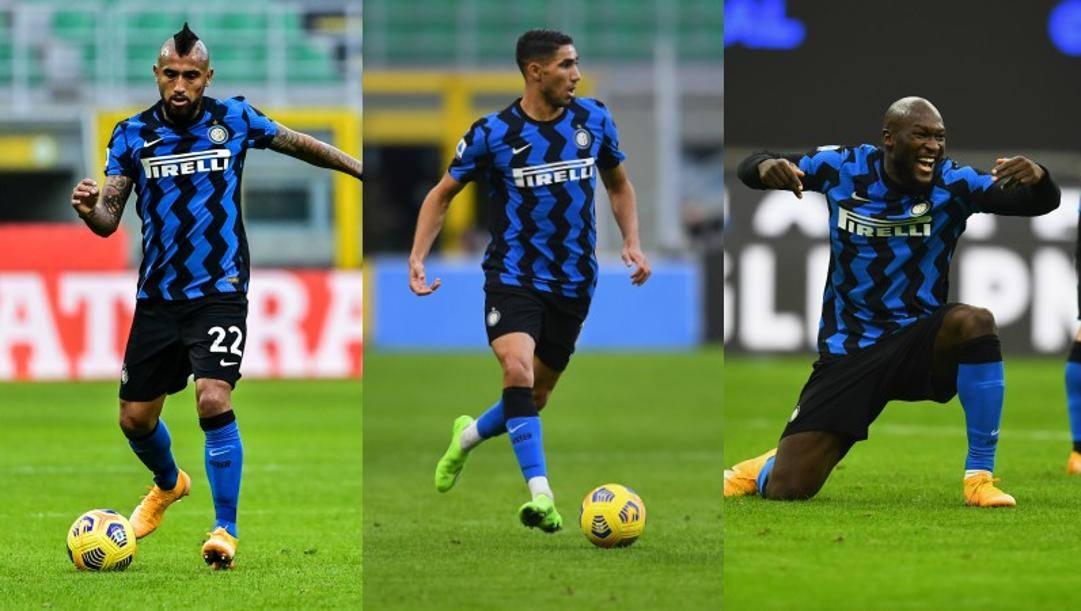 Vidal, Hakimi e Lukaku
