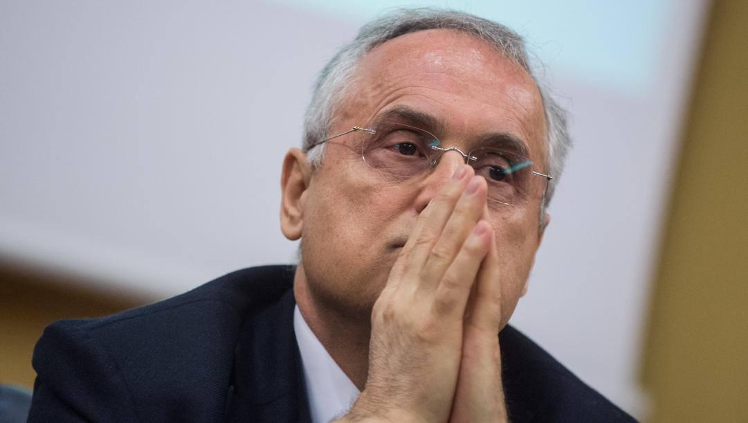 Claudio Lotito, presidente della Lazio. Lapresse