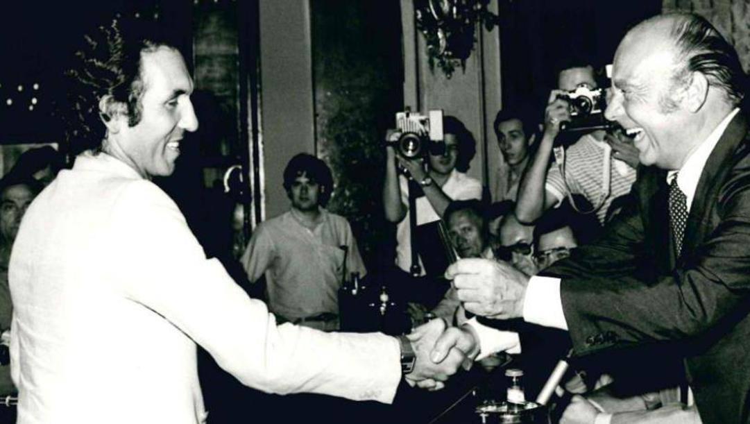 Enzo Rossi con Primo Nebiolo