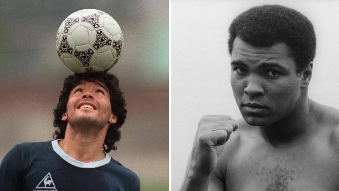 Diego Armando Maradona e  Muhammad Ali