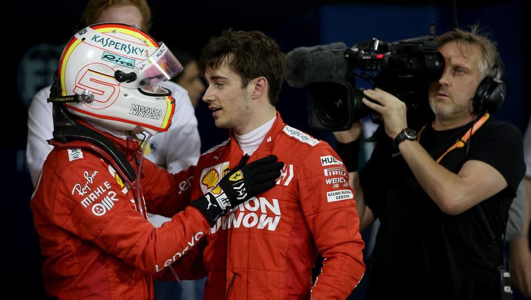 Sebastian Vettel e Charles Leclerc a Sakhir 2019