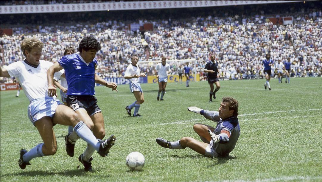 Maradona all'Azteca contro l'Inghilterra. L'Equipe