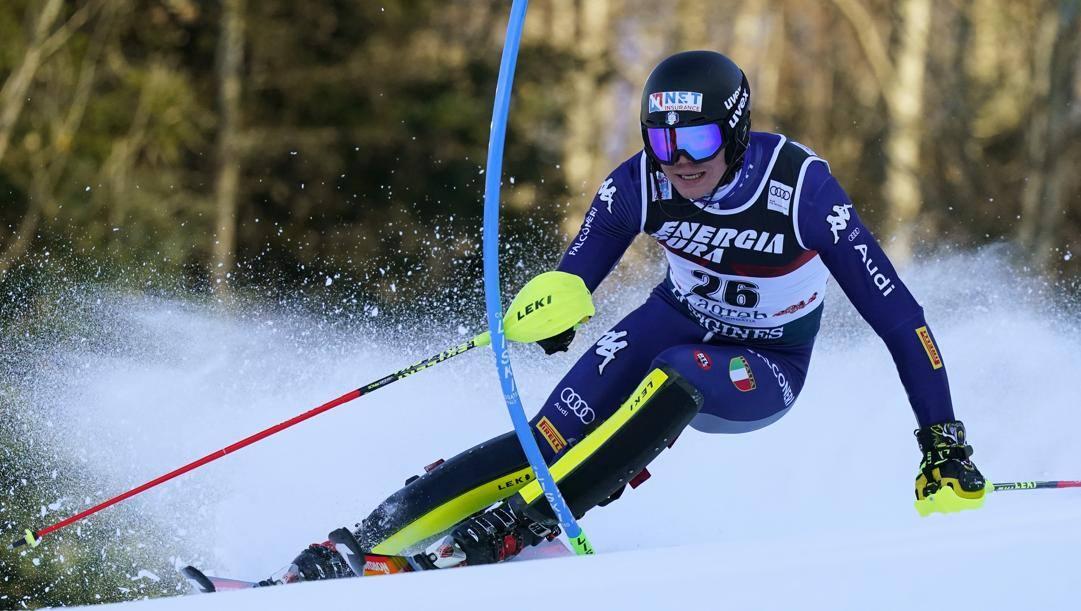 Alex Vinatzer a gennaio a Zagabria, dove è stato terzo