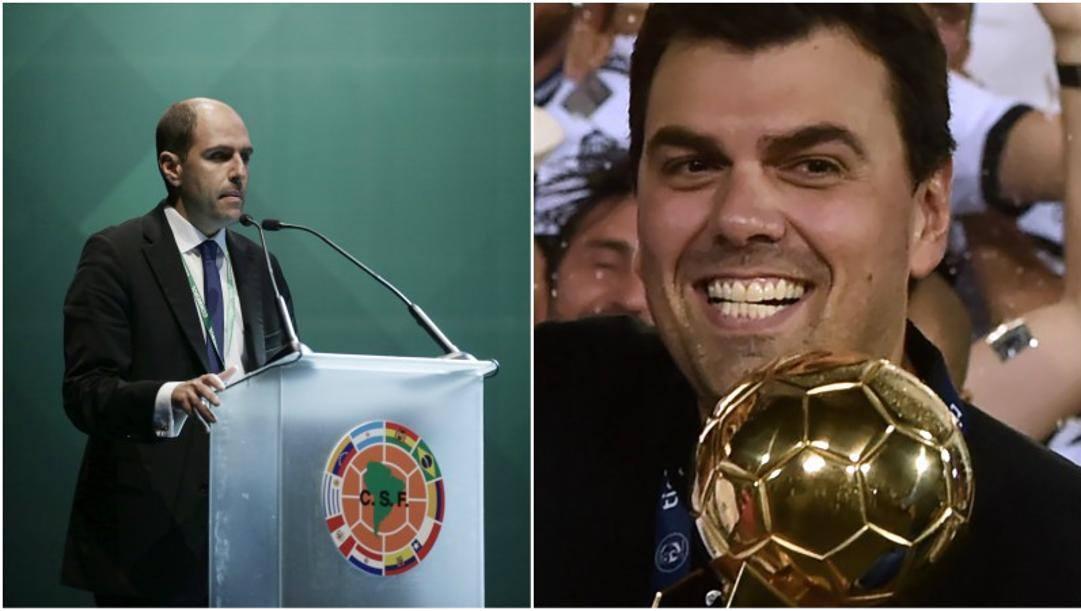 Sergio Jadue e Marco Trovato. Ap/Afp