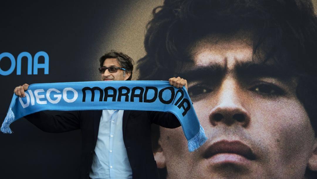 """Il regista Asif Kapadia, 48 anni, alla presentazione del suo documentario """"Diego Maradona"""". Geetty Images"""