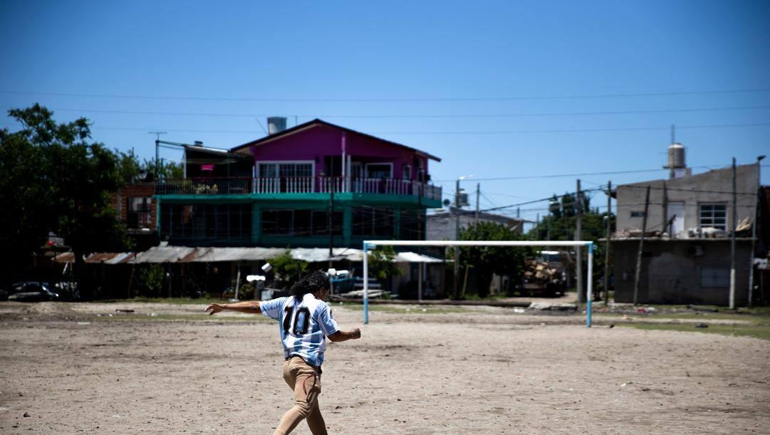 Il campo di Villa Fiorito, dove Maradona ha iniziato a giocare a calcio da bambino. Getty