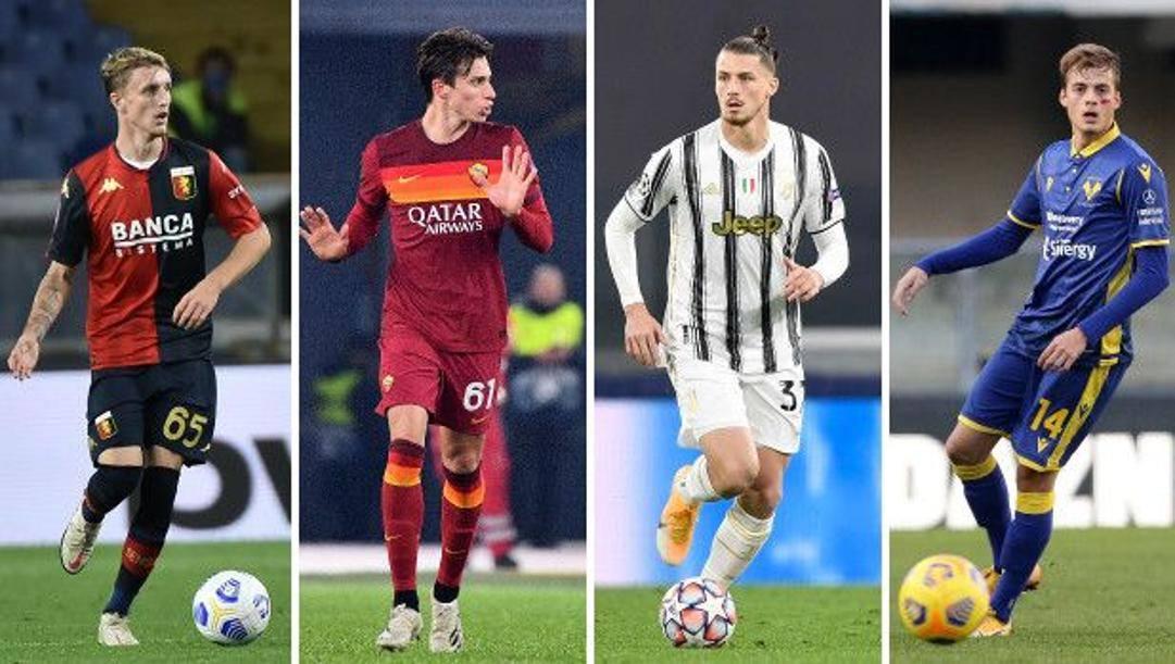 Nicolò Rovella, 19 anni, del Genoa; Riccardo Calafiori, 18 anni, della Roma; Radu Dragusin, 18 anni, della Juventus; Ivan Ilic, 19 anni, del Verona