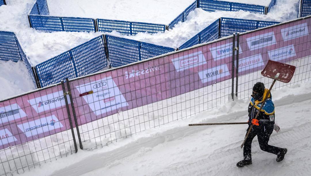 La situazione a St. Moritz. Epa